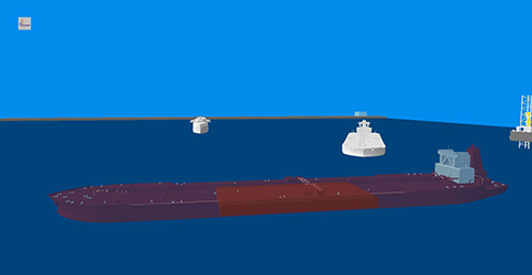Offshore logistic supply chain simulation